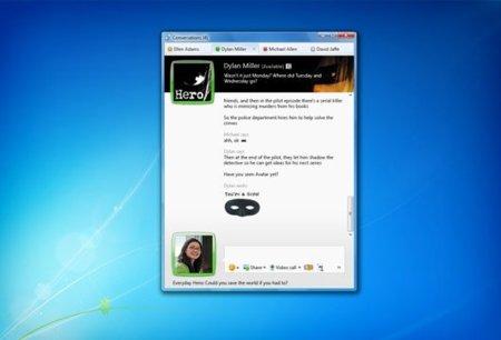 Pestañas en Windows Live Messenger 2010