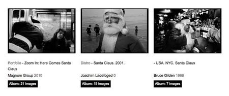 Santa Claus, desde los archivos fotográficos de Magnum, os desea Feliz Navidad