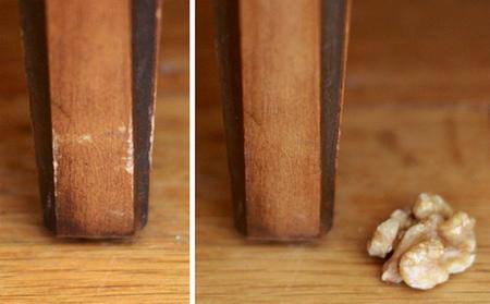 Hazlo tú mismo: elimina las rayas de los muebles de madera con una nuez