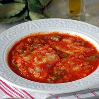 Bacalao en salsa de tomate y pimiento verde: receta de Semana Santa