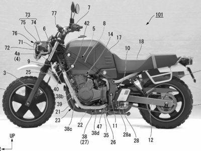La Honda Bulldog podría presentarse en breve. Se ha filtrado la patente