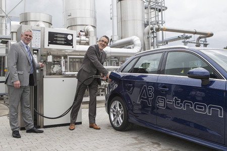 Audi abre su planta de e-gas