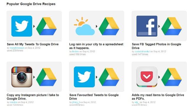 Ifttt incorpora a Google Drive a su repertorio de canales