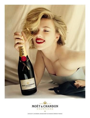 Scarlett Johansson imagen de Moët & Chandon