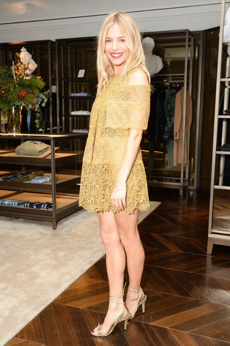 Sienna Miller Celebrating The Tale Of Thomas Burberry At Burberry Soho
