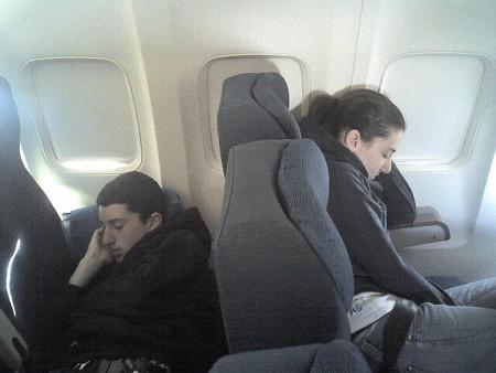Dormidos avión