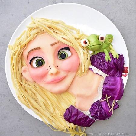 Madre Hace Obras De Arte Infantiles Con Comida Saludable Hijos Barbie