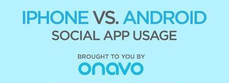 Infografía: Usos y costumbres sociales de usuarios de iOS y Android