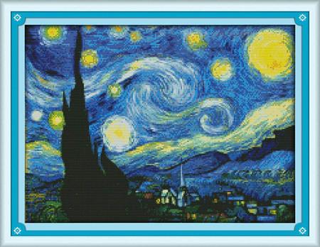 La Noche Estrellada Punto De Cruz