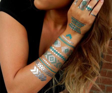 Tatuajes Temporales Dorados Shimmertatts