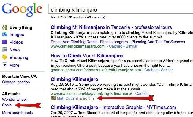 google social search resultados búsqueda