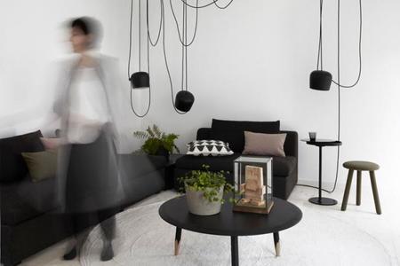 """Increíble casa sueca en blanco, negro, gris y rosa, con todos los """"must have"""" de este invierno"""