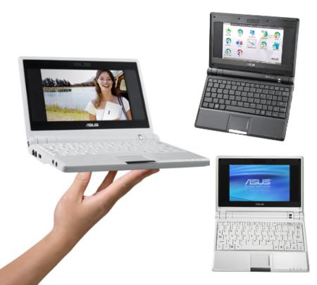 Asus Eee con 8 GB de SSD por 500 dólares