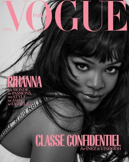 Rihanna Vogue Paris December 2017 January 2018 Cover1