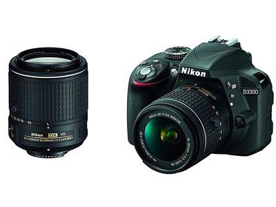 Por 509 euros, tienes en eBay una reflex de iniciación como la Nikon D3300, con dos objetivos