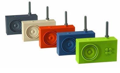 Radio de caucho de colores