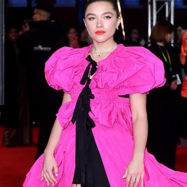 Florence Pugh prometía ser un huracán en la red carpet y su look en los Premios BAFTA 2020 lo demuestra