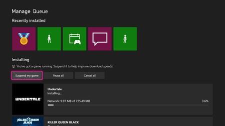 Xbox One descargas más rápidas