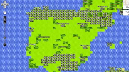 Google Maps 8-bit para NES, una divertida broma del April Fool's Day