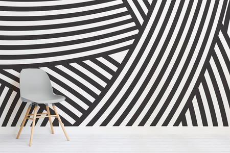 Walmer Layered Black And White Mural Chair