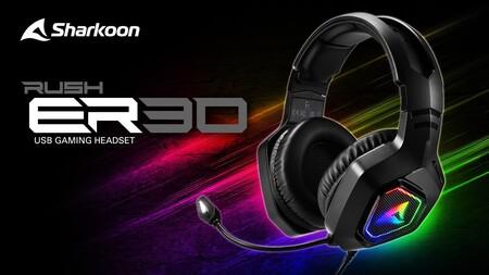 Sharkoon presenta los RUSH ER30, sus nuevos auriculares gaming económicos con drivers de 50 mm y conectividad USB