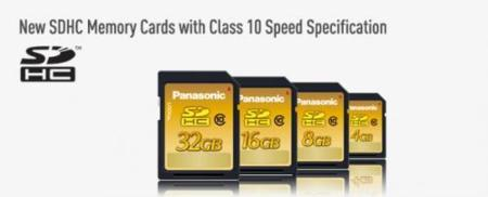 Panasonic lanza tarjetas SDHC de Clase 10