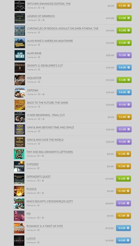 Pick 5 games. Save 80% (GOG)