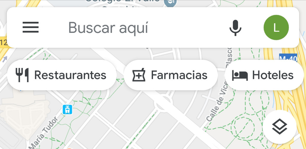 Google Maps adds a toolbar with shortcut icons to the categories that are most sought after