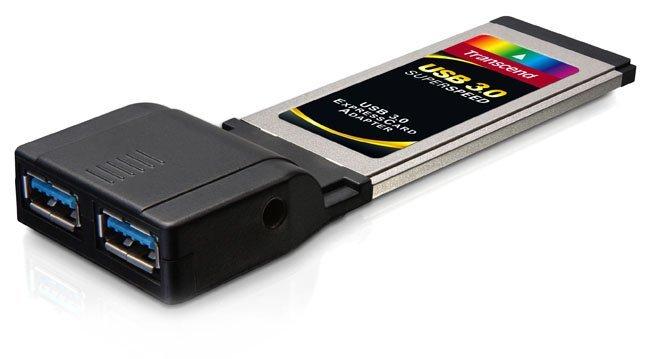 Adaptador Trascend ExpressCard a USB 3.0