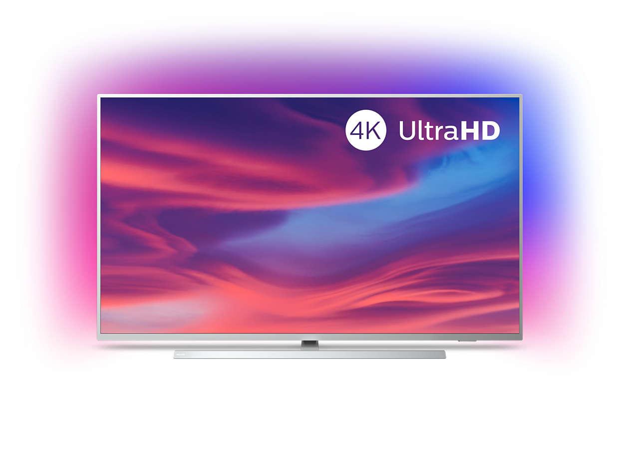Smart TV 4K de 50 pulgadas Philips 50PUS7304/12, con Android TV y Ambilight,  a precio de Black Friday en Amazon: 479 euros