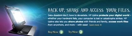 HP Upline, sistema de almacenamiento online