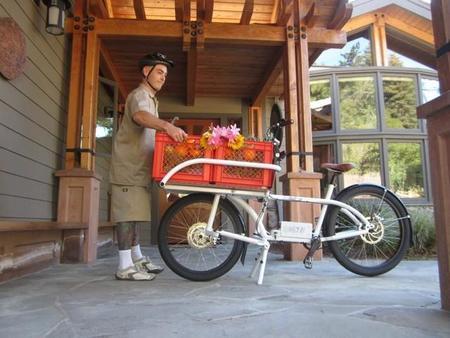 Bicicleta eléctrica NTS Works 2X4 Cargo Bike para transporte de cargas