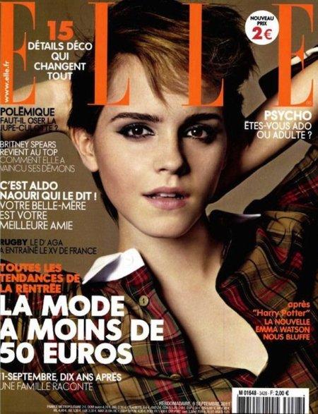 Emma Watson, masculina y preciosa en la versión francesa de Elle