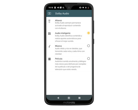 Moto G7 Mockup sonido