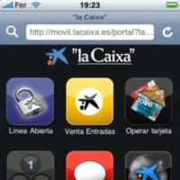 Portal de laCaixa optimizado para iPod touch e iPhone
