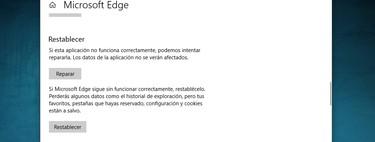 Cómo restablecer o reparar aplicaciones instaladas en Windows 10