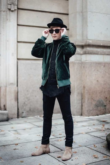 Trendencias Hombre Terciopelo Street Style 2018 08