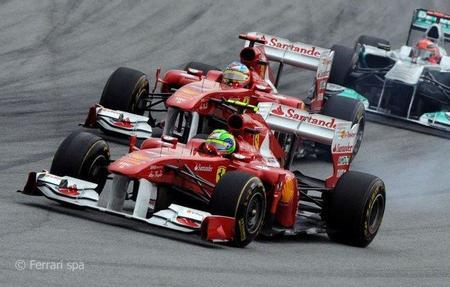 Alonso Massa Ferrari GP Malasia 2011 F1