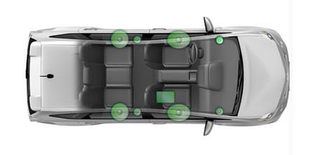 Equipo de car audio en Toyota Prius