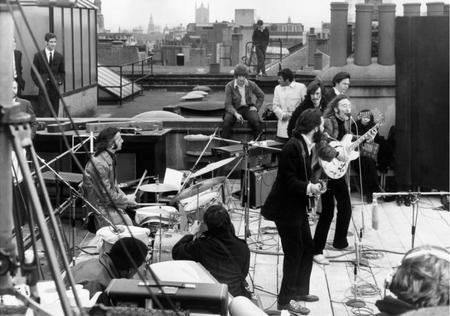 The Beatles Performing Their Last Live Public Concert On The Rooftop Of The Apple Organization