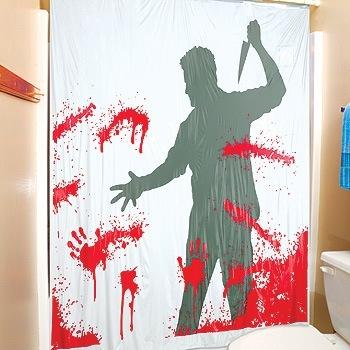 Cortina de ducha sangrienta
