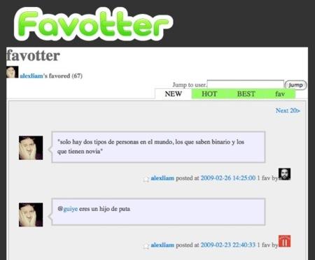 Conoce tus twitts marcados como favortios con Favotter