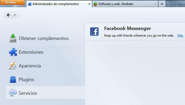 Firefox 22, administrador de complementos