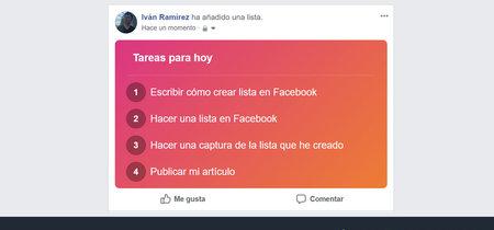 Cómo crear y compartir listas de cualquier cosa en Facebook