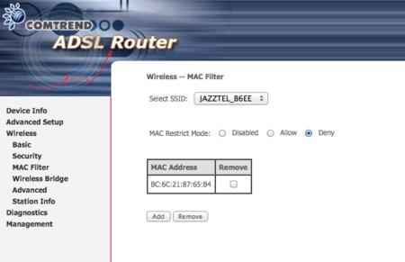 Filtrar qué dispositivos se pueden conectar a tu WiFi mediante el uso de MACs