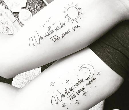 29 Tatuajes Que Podras Hacerte Con Tu Mejor Amiga Porque La - Tatuajes-de-frases-de-amistad