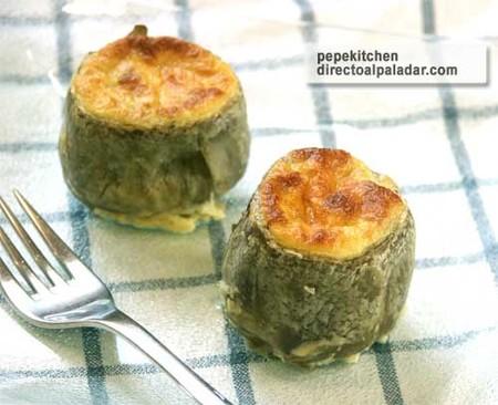 Alcachofas gratinadas con queso. Receta vegetariana