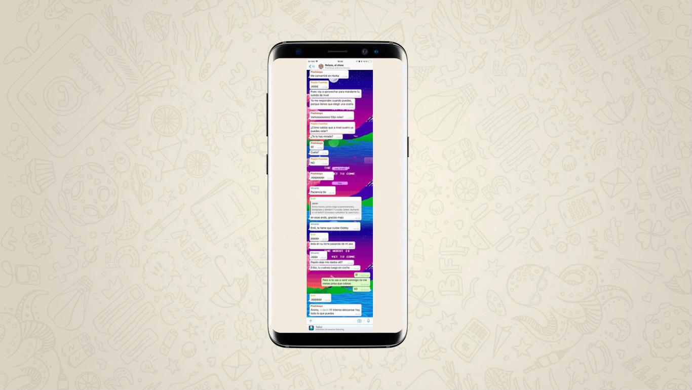 d56c70e9575 Cómo hacer una captura de pantalla de una conversación entera de WhatsApp  en Android y iOS