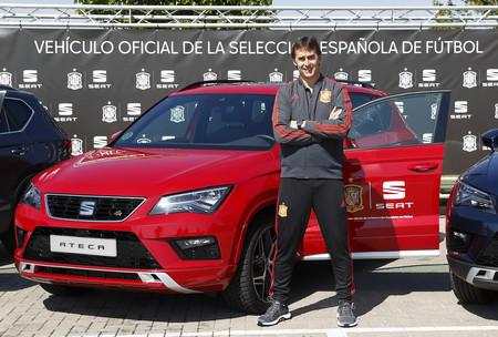 Los coches de los jugadores de la selección española de fútbol