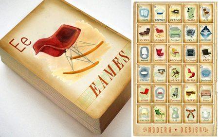 El abecedario del Movimiento Moderno en un precioso juego de cartas